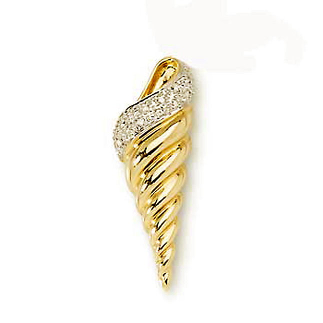 Ice -Cream Cone 0.06ct Diamond Pendants -Designer Pendants