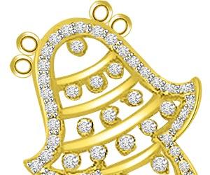 Immortal Time -Ananta 0.60ct Bell Diamond Pendants -Designer Pendants