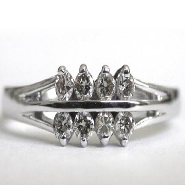 In Your Heart -White Rhodium rings