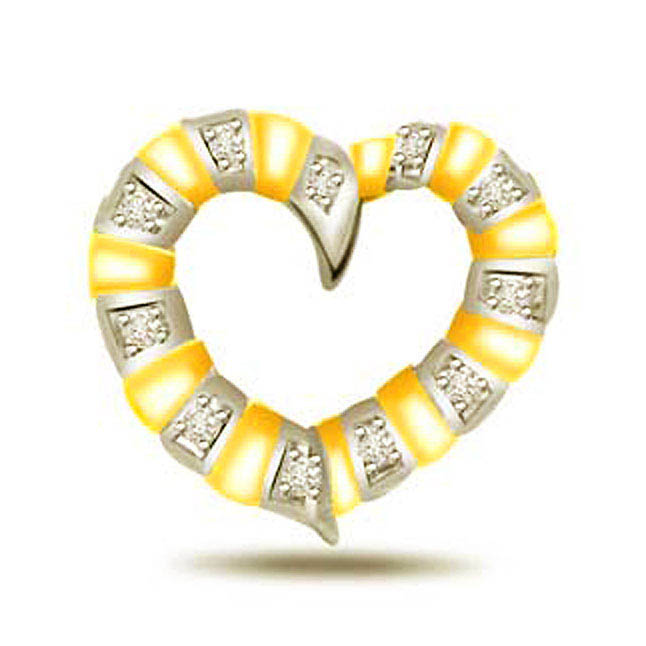 In My Heart 0.11ct Diamond Gold Pendants