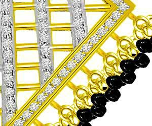 In the Box Studded 1.00ct Diamond Net Design Necklace Pendants