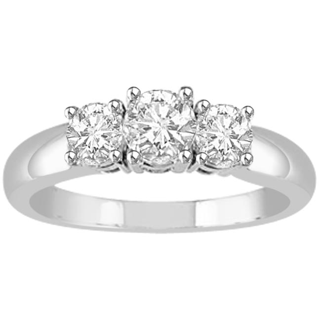 Intertwined Affection 0.60 ct G/ VVS1 Diamond rings -3 Diamond rings