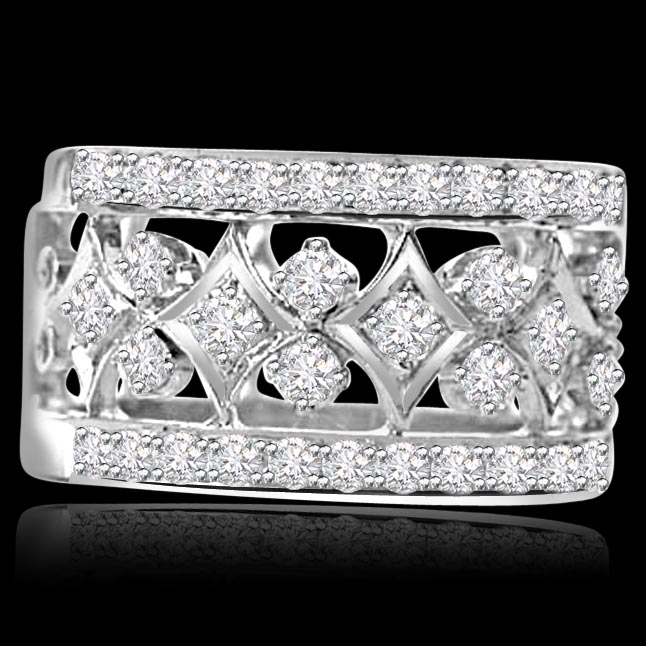 Wide Band Diamond Rings for Women and Men, Engagement Bands, Custom ...