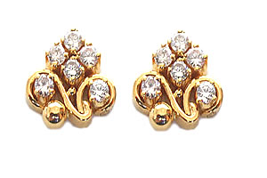 Kali Shaped Diamond Earrings -Designer Earrings