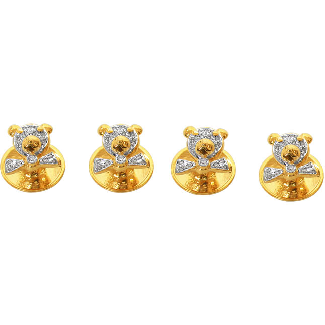 A Lovely Dual Plated Teddy Bear Designed Kurta Button -Gift Items