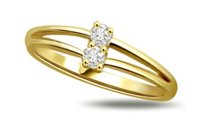 Knotty Knot Classic Diamond & Gold rings