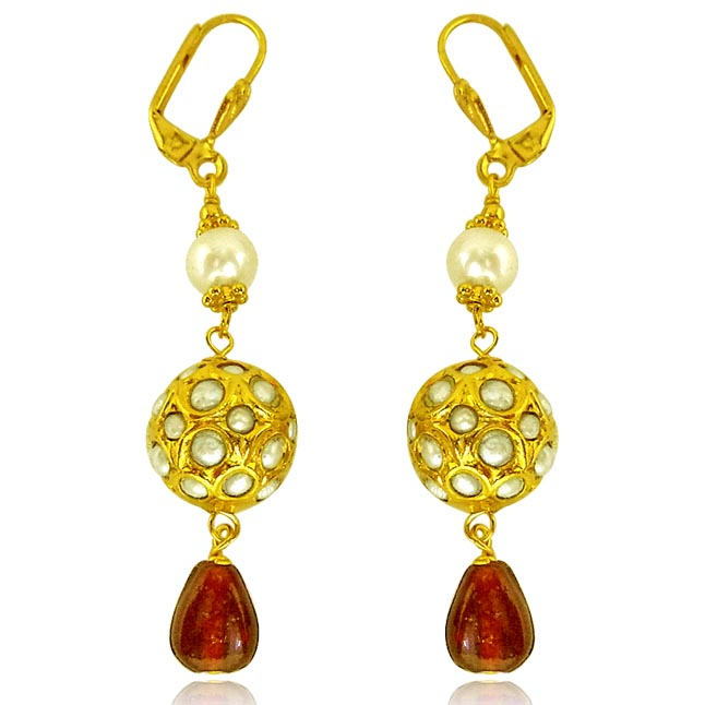Kundan Beads Earrings