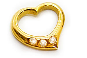 Lady Marmalade Heart Shape Diamond Pendants