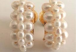 """Let's fall in love """" Pearl Earrings -Balis & Hoops"""
