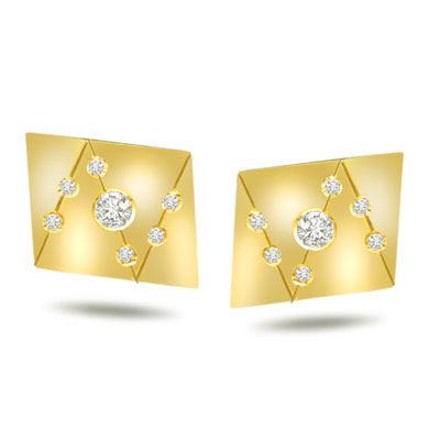 Links Of Love -0.30ct VS Clarity Diamond Gold Cufflinks -Cufflinks