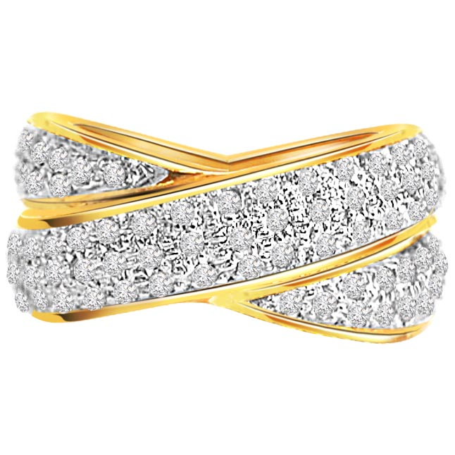 Love Birds 1.26 ct I / J SI Clarity Diamond rings -Pave Collection