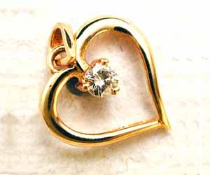 Love is in the Heart Diamond Set in 18kt