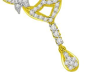 Love Of My Life 0.89ct Two Tone Diamond Pendants