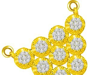 Love Struck Flower & Diamond Triangle Pendants -Designer Pendants