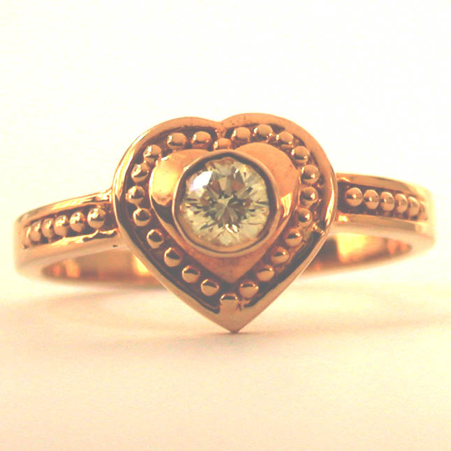 Lover's Gift 0.15 cts Heart Shape rings