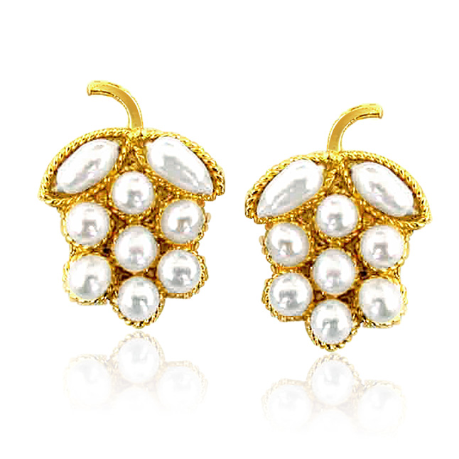 Lustrous Pearl Present -Designer Earrings