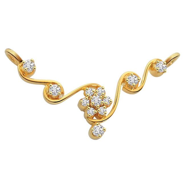 Luxurious Love Diamond 18K Gold Necklace Pendants DN440 Necklaces