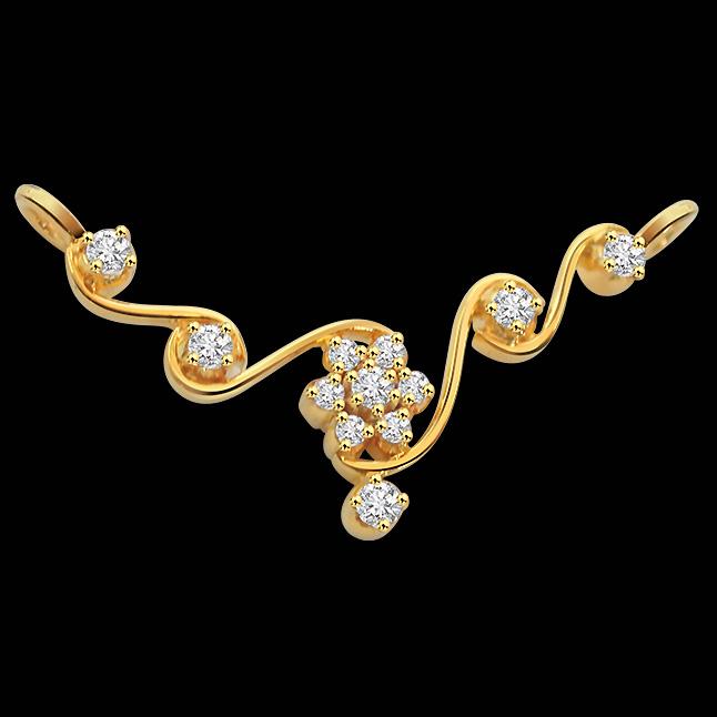 Luxurious Love Diamond 18K Gold Necklace Pendants DN440 Necklaces
