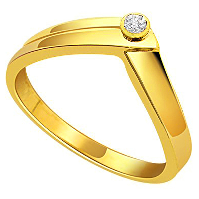 Magical Love Gold n Diamond rings -18k Engagement rings