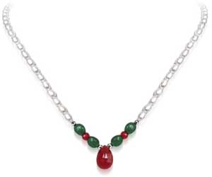 Marvel -All -Precious Stone Necklace