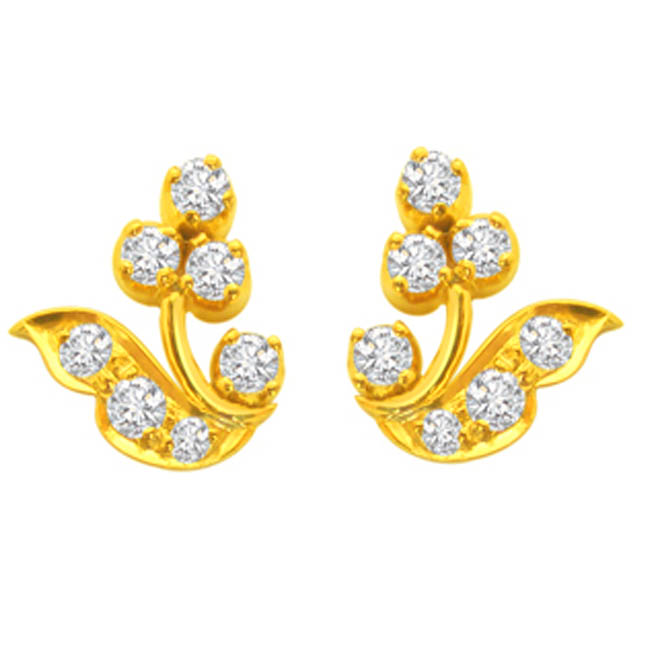 Marvelous Mademoiselle Diamond Earrings ER -19 -Flower Shape Earrings