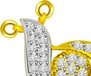 Mother & Child Two Tone Diamond & Gold Pendants