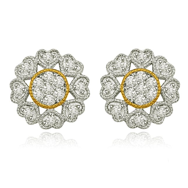 My Life is Complete with You Gold & Diamond Earrings -Kudajodi