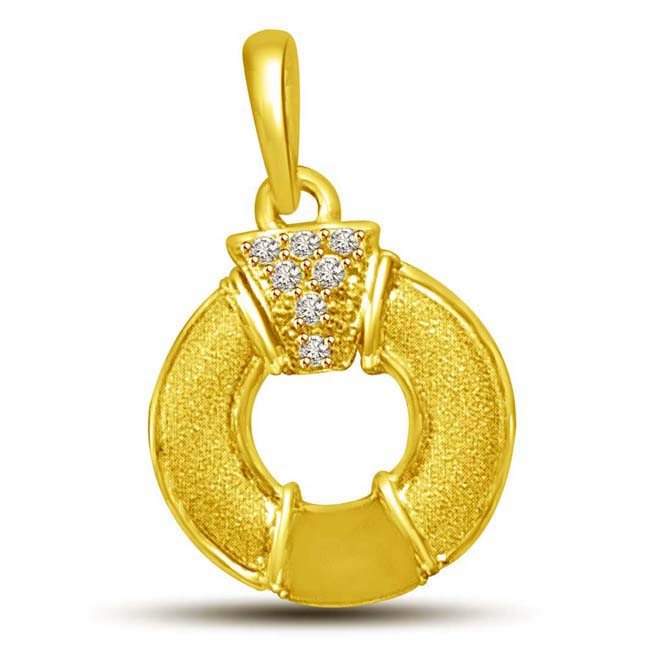 My Life is Encircled by You 18KT Gold & Diamond Pendants -Designer Pendants