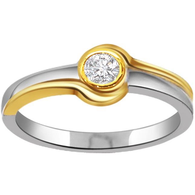My Loving Princess Designer Diamond Two -Tone rings SDR311