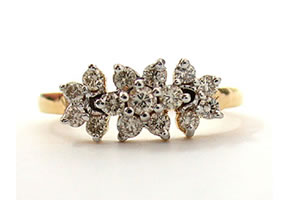 Mystical Celestial Flower 0.58 ct Diamond Flower Shape rings