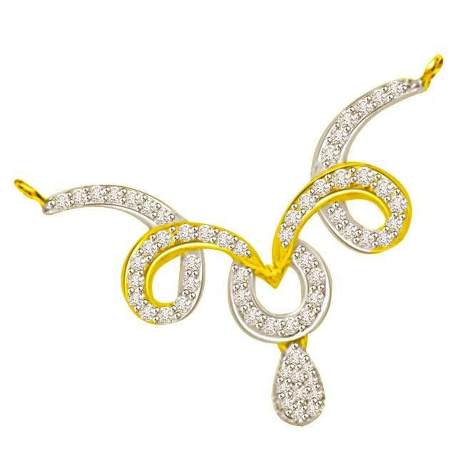 Mystical Two Tone Diamond Mangalsutra Pendants