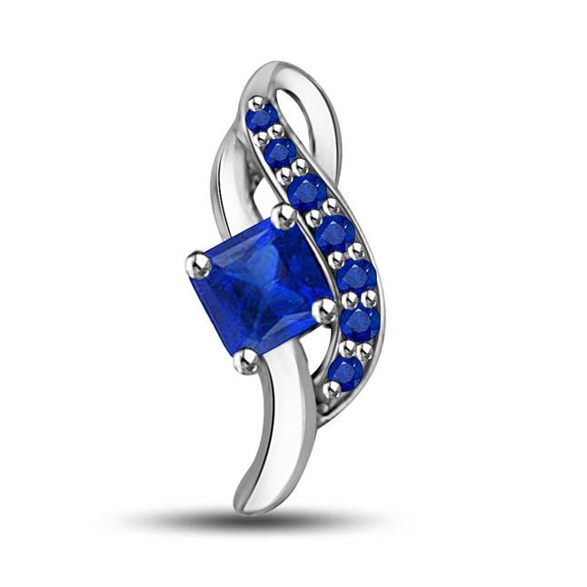 Nature's Divine Charm: Diamond & Sapphire Pendants for the Heart's Desire -Teenage