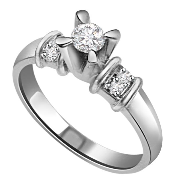 Naughty Floral Knot Fine 1.00 ct Diamond rings -Designer