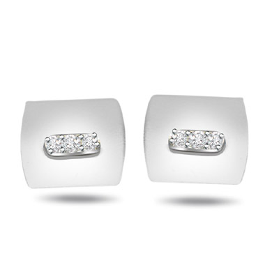 Office Opulence -0.18ct Diamond Cufflinks -Cufflinks