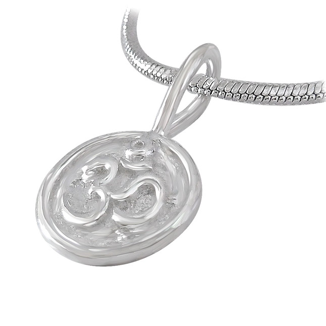OM Pendants in Sterling Silver with Chain for Children
