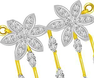 Only You & Me Two Flowers 0.72ct Diamond Pendants