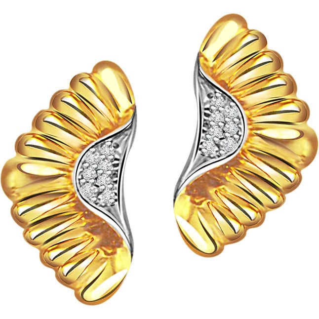 Ornate Adornments ER -90 -Two Tone Earrings