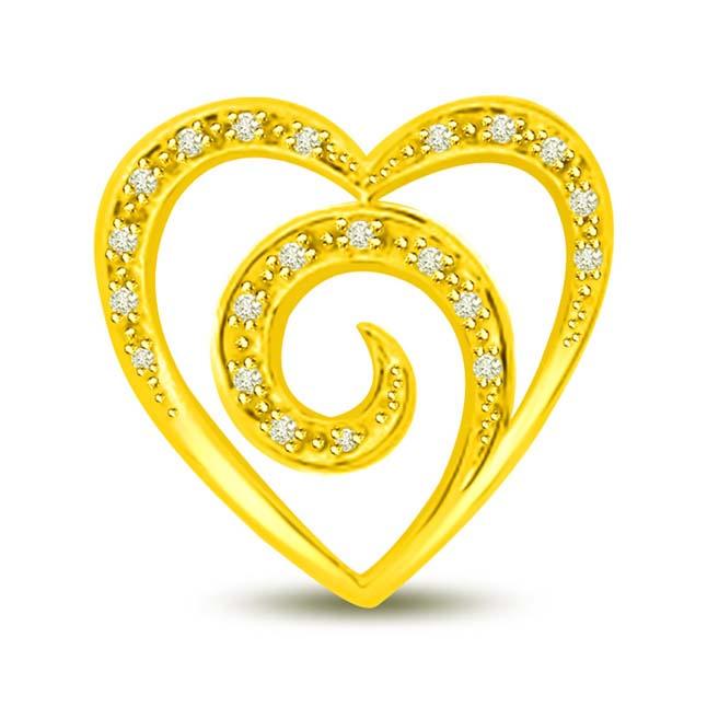 You are in My Heart Diamond Pendants in 18k