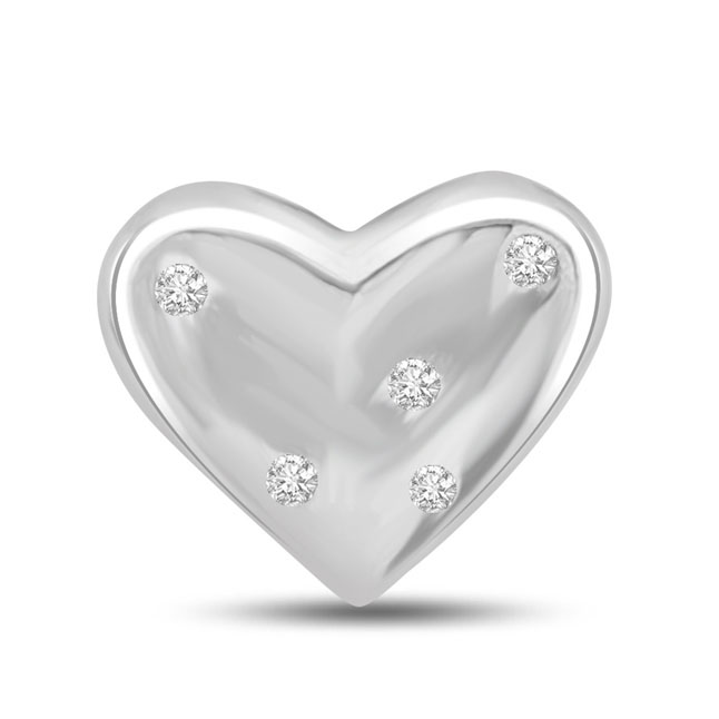 My Love is Serene…White Gold Diamond Heart Pendants