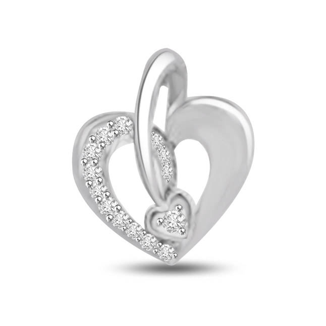 Love is Music, Just Play it 14kt Diamond Heart Pendants