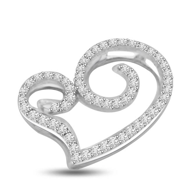 You Mean so Much to Me Diamond Heart Pendants for You
