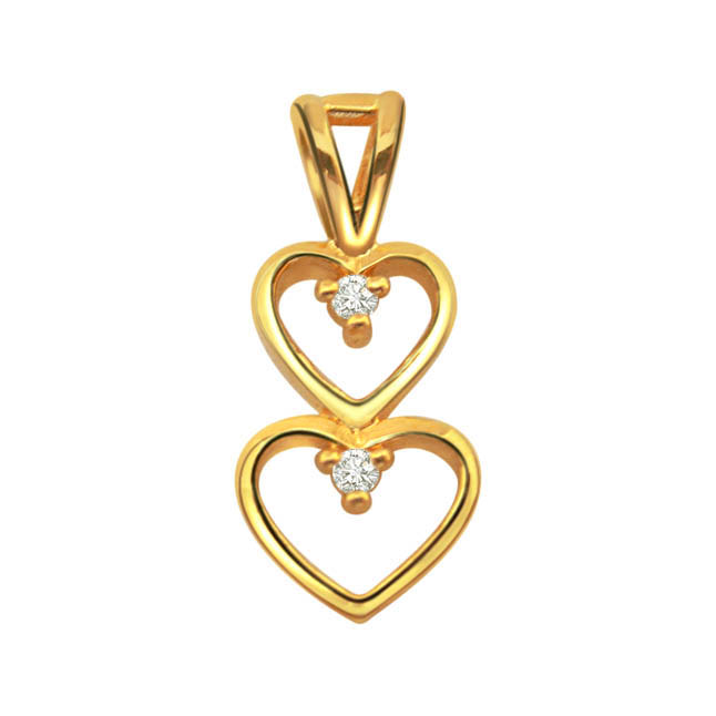 For My Love Diamond Pendants in 18kt Gold