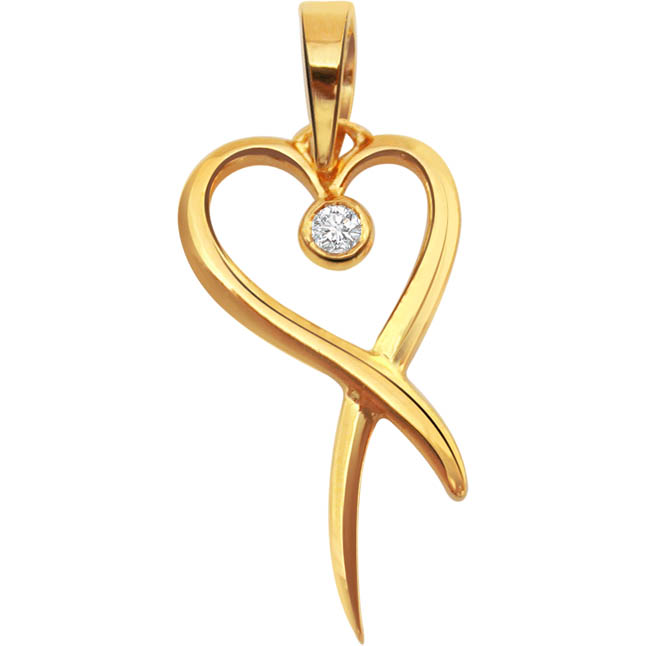 Love in Bloom Solitaire Diamond Pendants in 18kt Gold