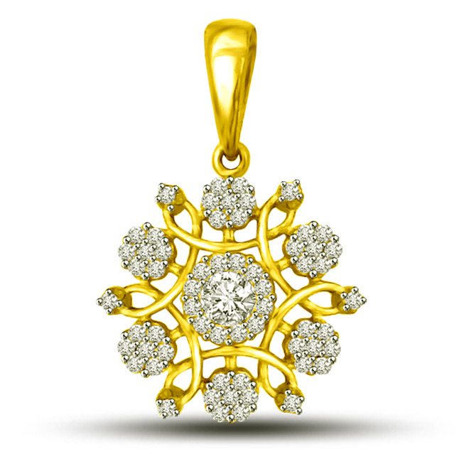 A touch of tradition -Flower Shape Pendants
