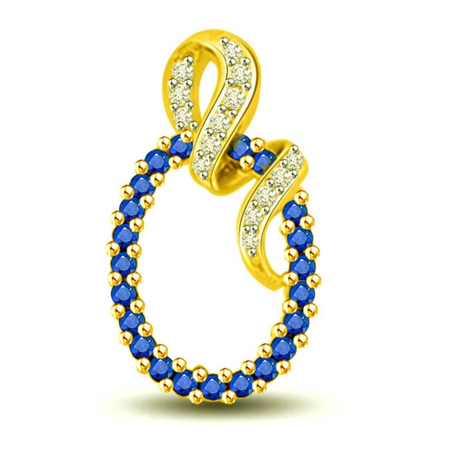 rings for Togetherness : Diamond & Sapphire Pendants for the Lovely Lady