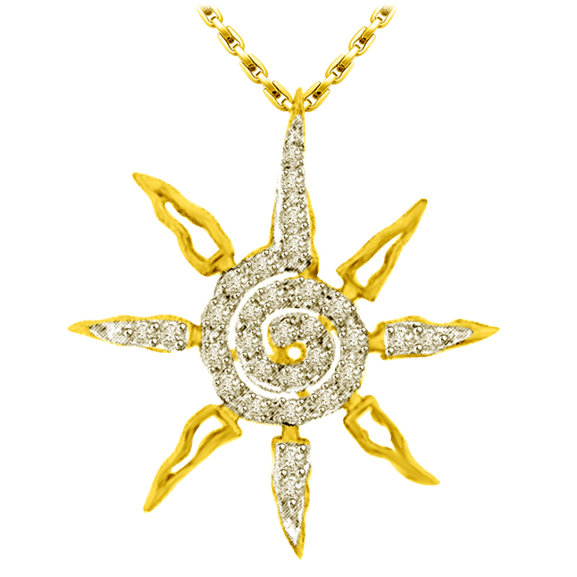 You Are My Star,0.45ct Diamond Star Gold Pendants -Designer Pendants