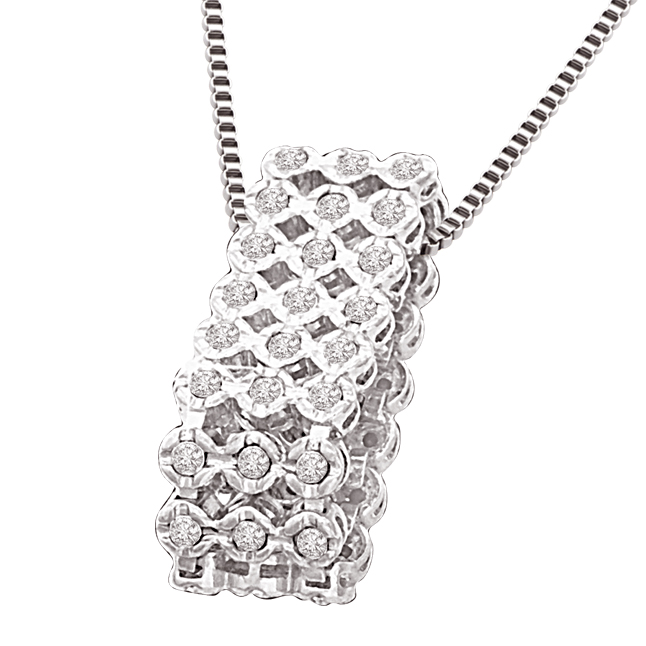 Bouquet of Diamonds 0.36ct White Gold Diamond In A Sieve Beautiful New Design Pendants For Her -Designer Pendants