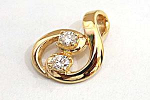 Cute Cookie Diamond Pendants in 18kt Gold -Designer Pendants
