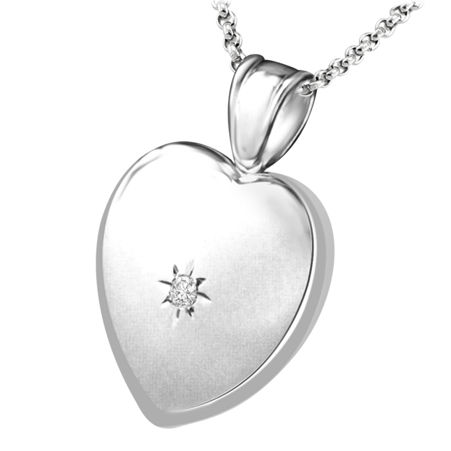 Elegant & Stylish Diamond Heart White Gold Pendants For Your Sweetheart