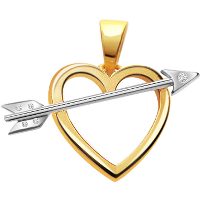 Diamond Cupid Struck -diamond Pendants  Surat Diamond Jewelry